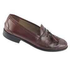 Johnston & Murphy Celini Men's Brown Leather Tassel Loafers 8.5 M Shoes R8S3