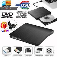 2019 External USB 3.0 DVD RW CD Writer Drive Burner Reader Player For Laptop PC