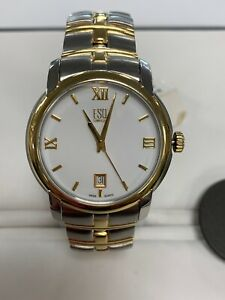 ESQ By Movado Mens Muse Two Tone Stainless Steele And Yg Plated Case & Bracelet