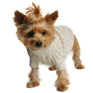Doggie Design Oatmeal Combed Cotton Cable Knit Dog Sweater XXS-3XL
