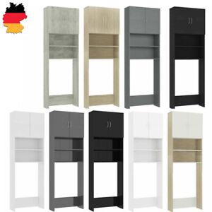 Waschmaschinenschrank 64x190cm Spanplatte 2 Fächer 2 Türen mehrere Auswahl