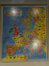 Vintage Victory Plywood Jigsaw Puzzle - Industrial Life in Europe - Complete