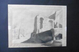 DUTCH SCHOOL CA. 1800 - LANDSCAPE WITH ROMAN RUINS - FINE INK DRAWING