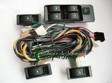 New Universal 4 Rocker 5 wire Switch Kit Door Lock Power Windows 12V For 4 Doors