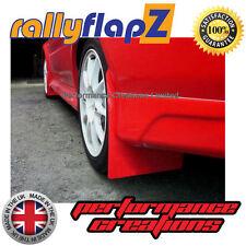 rallyflapZ Mitsubishi Lancer Evo 5-6 Mud Flaps Kit Inc:Fixings Red Plain 4mm PVC