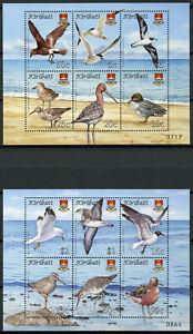 Kiribati Birds on Stamps 2008 MNH Bird Definitives Terns Gulls Ducks 12v on 2 MS