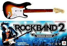 Official ROCK BAND 2 PS4/PS3/PS2 Fender SUNBURST Wireless Guitar & Dongle 4 3 1
