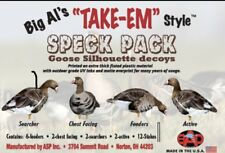 New - Big Al's Decoys - Specklebelly Specks- Silhouette Decoys - 12 Pack