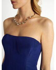 NEW Signed Oscar de la Renta Oscar de la Renta Crystal Pave Wave Pearl Necklace