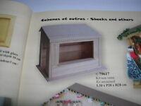 Creal Verkaufsstand Verkaufshütte Holz natur 1:12 Bausatz Model Kit Art. 79617