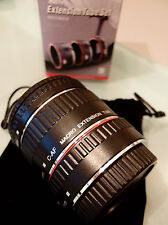 PRL) CANON EOS EF EF-S EXTENSION TUBE SET C-AF 13 21 31 mm TUBI PROLUNGA MACRO