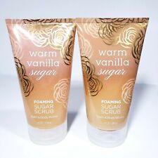 Bath & Body Works Warm Vanilla Sugar Hand & Body Foaming Sugar Scrub 2 New 8 oz