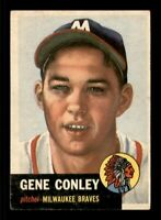 1953 Topps Set Break # 215 Gene Conley VG *OBGcards*