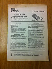 FERGUSON 3269 MARCONIPHONE 4269 Two-Track Cassette Recorders Service Manual
