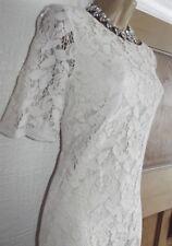 WALLIS ❤️ LOVELY NUDE MOCHA LACE  BALL DRESS SIZE 14 M  WEDDING OCCASION