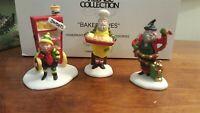 Dept 56 North Pole Accessory Baker Elves 3 Piece Figurine Set 56030 RETIRED