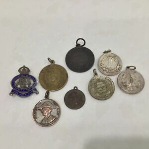 8 Medals: 3 Peace Medallions, Coronation, AIF WWI & RLS Service Medals #449