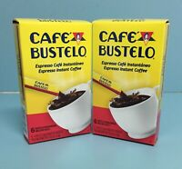 (2-Pack) Cafe Bustelo Instantaneo. Instant Coffee 6 Single Serve Packets