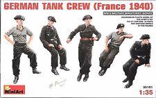 1/35 MiniArt 35191- German WWII Tank Crew France -  (5 Figure set) Plastic Kit