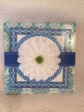 Hallmark Stationery Memo Pad Set SOM2606 Blue White Gerber Daisy, NEW