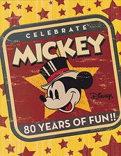 2006 DISNEY Celebrates Mickey 80 Years Of Fun - Commemorative Sheetlet Pack