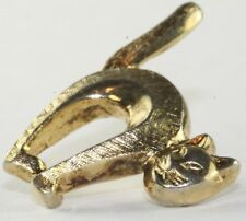 Rare Vintage Gold Over Sterling Silver Trifari Cat Tie Tack Pin