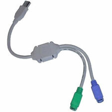 USB 1.1 TO TWIN PS2 ADAPTOR CABLE 0.2m KEYBOARD / MOUSE