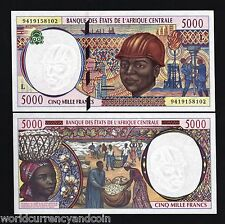 Central African States Gabon 5000 Francs P404L 1994 Ship Unc Currency Money Note