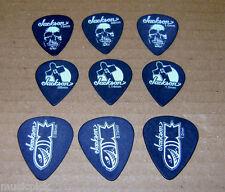 9 Assorted JACKSON Guitar Picks Cross Skull Ammo All gauges #351 #451 #551