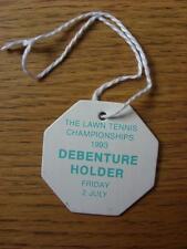 02/07/1993 Tennis: Wimbledon Lawn Tennis Championships, Debenture Holder Lounge