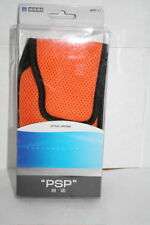 BRAND NEW SONY PSP SOFT CASE POUCH BAG  BY HORI ORANGE