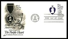 The Purple Heart Military Medal 200th Anniv. 1982 USA - special embossed cover