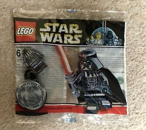 RARE lego star wars CHROME DARTH VADER minifigure polybag SEALED promo 4547551