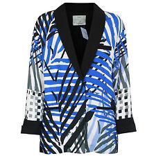 GIADA FORTE $870 oversized palm leaf print blazer Resort 2015 jacket 0/XS NEW