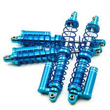 4X 90mm Aluminum Dual Spring Piggyback Shocks for RC Rock Crawler D90 SCX10 Blue