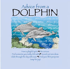 """LEANIN TREE """"Advice From A Dolphin""""~26343 Magnet~Be Curious~Find Life's Porpoise"""