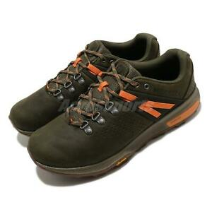 Merrell Zion Peak Dark Olive Green Orange Men Outdoors Hiking Shoes J035349