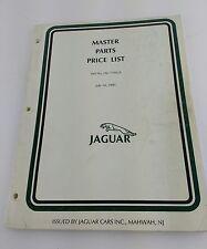 MASTER PARTS PRICE LIST OF JAGUAR CARS INC. #JAG 7191/A 1991 JAGS CARS