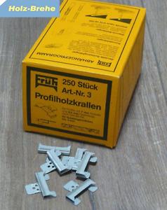 4,10€/100 St Profilholz Klammern Montage Profilholzkrallen Nut-Federbretter Nr.3