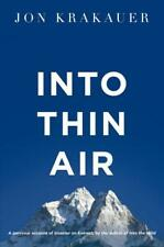 Into Thin Air: A personal account of the Everest, Jon Krakauer, New