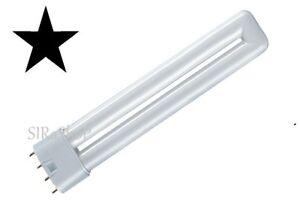 TOP TUBO LED NEON LAMPADA ATTACCO 2G11 4 PIN 8W 12W 18W LUCE BIANCA - GIALLA