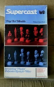 Vintage Supercast Fine Art Political Chess Pieces Moulds Thatcher Big Ben Unused