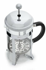 French Press Coffee Maker Tea Pot Plunger Glass Stainless Steel (1 liter, 34 oz)