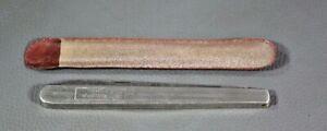 VINTAGE POCKET FOLDING STAINLESS STEEL BLADE KNIFE MELON FRUIT TESTER w/CASE