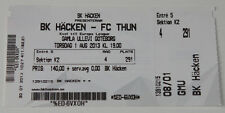 old TICKET EL BK Hacken Sweden - FC Thun Switzerland Schweiz in Goteborg