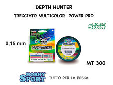 POWER PRO DEPTH HUNTER FILO TRECCIATO MT 300  0,15 MULTICOLOR originale USA
