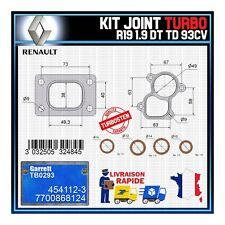 Joints Turbo 1.9 dT TD 93 Cv Renault R19 7700868124 Garrett TB0293 454112-3