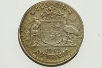 1943 Florin Variety Error Mis-Strike in Almost Extremely Fine Condition