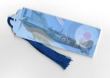 Spitfire Book Marker BookmarkWW2 Plane &RAF Flag - Airplane Aircraft Male Gift