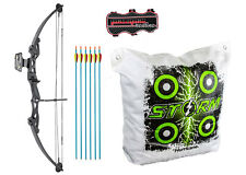 ASD Archery Black Lynx Compound Bow High Powered With Arrows, Bag Target + More